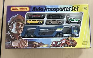 1979 LESNEY MATCHBOX AUTO TRANSPORTER SET NEW IN BOX