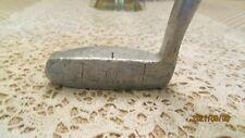 """Used RH Mens Otey Crisman Vintage 12 H Mallet Head Putter 34 1/2"""" Wood Shaft"""