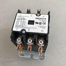 NOS HARTLAND HN53CD115 CONTACTOR 3 POLE 115V 40Amp COIL 600 VAC HVAC ELECTRICIAN