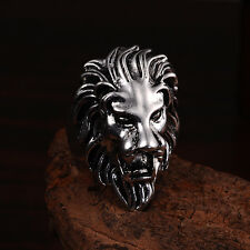 Jewelry Charm 316l stainless steel Fashion Punk design lion ring US size10 T25