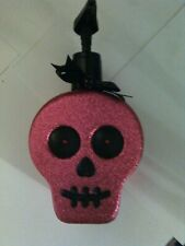 Bath & Body Works Used Halloween Fuschia Glitter Empty Hand Soap Container/Pump