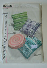 sewing pattern for pillows round square and rectangle
