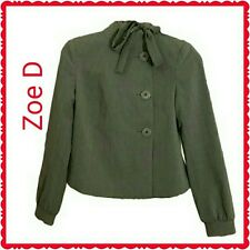 NWT Women's Zoe D. Career Separates Lined Gray Blazer