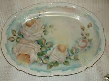 Vintage Tirschenreuth Bavaria Fortuna Rose Floral Platter, Germany