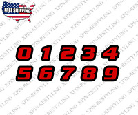 Racing Numbers Decal Sticker | Motorcycle Dirt Bike Plate Number BMX Style #2