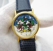 "MINNIE & MICKEY MOUSE, Credit Card Giveaway, 3D Snow, ""Rare"" Unisex WATCH, 1285"