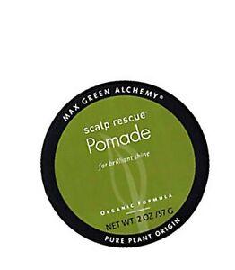 Scalp Rescue Pomade Puck (2 Ounces) - Organic Formula For Brilliant Shine, De...