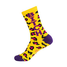 Gumball Poodle Crew Socks - Bitch (Leopard) - Unisex