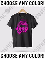 Any Size T-Shirt JEEP Girls Tee Jeep Girl 4x4 Off-Road Jk Wrangler Rubicon