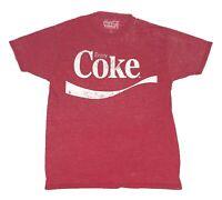 Coke Enjoy Coca-Cola Original Logo Soft Faded Graphic Tee Men's T Shirt