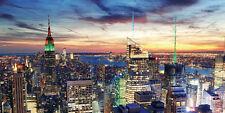 Led-bild mit Beleuchtung Leinwandbild Timer 100x50cm NEW York Flackernd