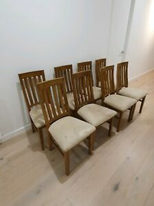 Solid Timber Dining Chairs Great Condition 8 Chairs