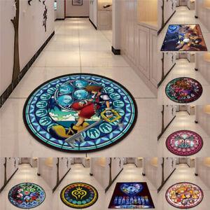 Kingdom Hearts Floor Rug Carpet Bedroom Doormat Non-slip Chair Mat Round/Square