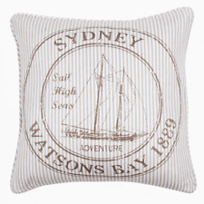Sydney Watsons Bay 1889 Bronze 45x45cm Cushion Cover RRP $ 33.95 AUS Seller