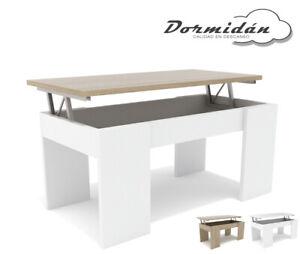 Mesa de centro elevable MC-4, salon / comedor, mayor grosor y estabilidad