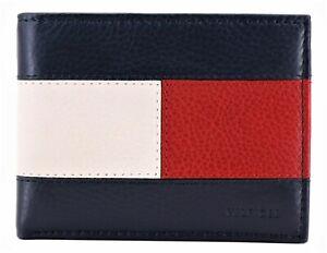 Tommy Hilfiger Men's Genuine Leather RFID Blocking Bifold Passcase Wallet