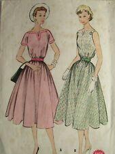 Amazing VTG 54 McCALLS 3067 Misses Dress in 2 Versions PATTERN 12/30B