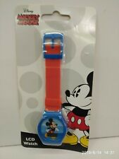 DISNEY MICKEY MOUSE RED GIRL KID DIGITAL LCD WATCHES 100% ORIGINAL MUST L@@K