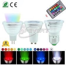 MR16 4W RGB 16 Colors Color Change LED Spotlight Bulb Ceiling Light + IR Remote
