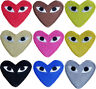 Embroidery Love Heart Sew ON PATCHES Iron On Badges uk seller