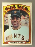 TOPPS 1972 WILLIE 49 MAYS GIANTS SAN FRANCISCO BASEBALL HOF CARD VG-EX