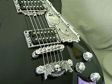 CUSTOM METAL SKULL PICKGUARD fits GIBSON, EPIPHONE LES PAUL GUITAR HAND MADE !!!