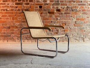 Marcel Breuer B35 lounge chair armchair by Thonet Bauhaus, circa 1940s