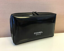 Chanel Beauty Black Cosmetic Makeup Bag Pouch Clutch Brand New in Box