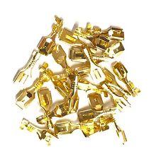 LOT of 1000 PCS 6.3mm Brass Crimp Terminal Locking Tab Female Spade Connector