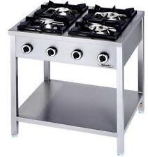 Cucina Professionale a Gas 4 Fuochi Linea 90 Su Gambe  KW 24 cm 90 x 90 x 90h