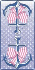 Ship Anchor with Pink Bow Tribal Kids Bath Pool Beach Towel