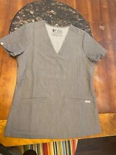 Figs - technical collection - Gray scrub top Xs