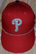 Philadelphia Phillies Womens Rhinestone Bling MLB Love Baseball Cap Hat ~NEW~