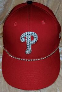 Philadelphia Phillies Womens Rhinestone Bling MLB Love Baseball Cap Hat ~NEW~