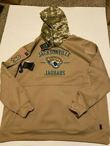 Nike Jacksonville Jaguars Salute To Service STS Therma Pullover Hoodie Sz: XL