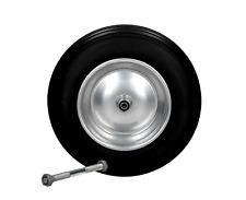 Schubkarrenrad Vollgummi PU 3.50-8 Ersatzrad Schubkarren Rad inkl. Achse Reifen