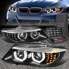 FOR 09-12 BMW E90 3D LED U-HALO 4-DOOR PROJECTOR HEADLIGHT HEAD LAMPS+TOOL SET