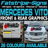 MERCEDES VITO SWB LWB GRAPHICS STICKERS STRIPES DECALS CAMPER VAN DAY RACE VAN