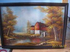 "Robert More ( Moore ) Framed Oil on Canvas Painting Landscape Scene 30"" x 24"""