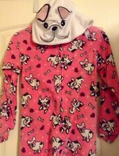 Joe Boxer French Bulldog Hooded Footed Pajamas Costume Dog S L or XL LAST ONES