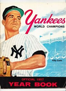 1957 Yankees Yearbook Mantle Berra Ford Martin Howard