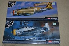 1/72 ACADEMY NEW P-47D RAZORBACK & TBF-1 AVENGER  Kits #12492 & 12452
