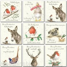 Wrendale Christmas Country Animals Card Family Dad Mum Son