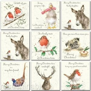 Wrendale Christmas Card Family Dad Mum Son daughter wife