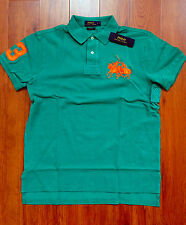 RALPH LAUREN Mens Custom Fit Cotton Dual Match Pony Polo Green L  NWT