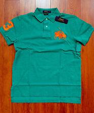 RALPH LAUREN Mens Custom Fit Cotton Dual Match Pony Polo Green L  NWT