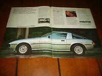 1980 MAZDA RX-7  ***ORIGINAL 2 PAGE AD***