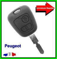 Coque Télécommande Plip Bouton Clé Pour Peugeot 306 406 806 + Lame vierge