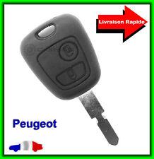 Coque Télécommande Plip Bouton Clé Peugeot 306 406 806 + Lame vierge