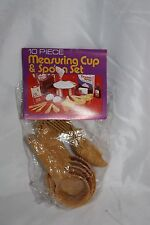 1982 US U.S. Sales Corp. 10 Piece Measuring Cup & Spoon Set Made In Hong Kong